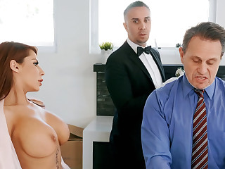 Horny serving-wench is ready to anal fuck housewife