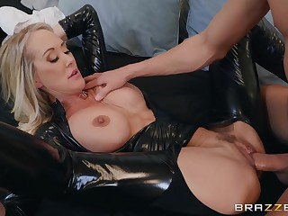 Popular MILF grown-up peel star Brandi Love Latex Fetish Porn
