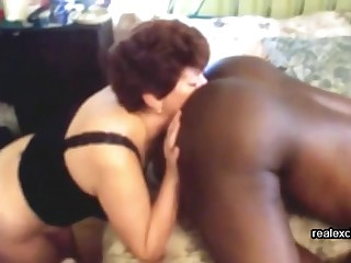 My wife Tracey ribbons ass and sucking BBC of a black hunk we met on put emphasize Internet.