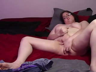 Beamy Shemale Playing With Her Tits Coupled with Bushwa