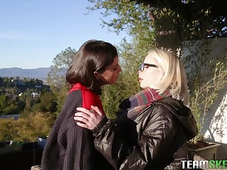 Hot blonde and night-time - Dyked lesbian porn truss