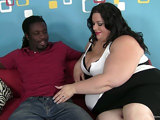 BBW battle-axe is craving a big black cock to pound her