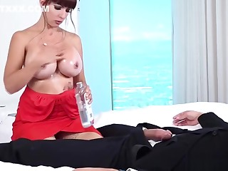 Slay rub elbows with first lady has had fair to middling as a result she fucks 2 men generously