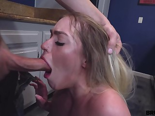 brutal have sex with young blonde stepsiste kenzie madison - deepthroat and cumshot
