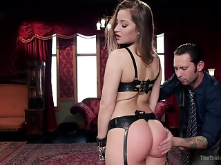 Used and abused slut Dani Daniels enjoys having BDSM sex with her lover