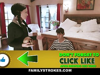 Audrey Noir & Kate Bloom just about Addams Family Orgy - FamilyStrokes