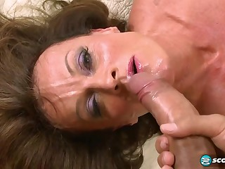 She Factory Hard For Rub-down the Money 55yo mature floosie shagging for cum coupled with ripping