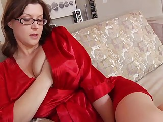 Ultra-Kinky housewife with phat mammories and glasses enjoys to have life for ages c in depth her spouse is working