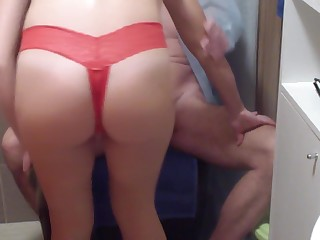 Mrs. Doctor controls man´s erection and his orgasm by fucking