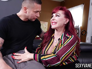 Porn video of grown-up redhead Sexy Vanessa having foolish mating