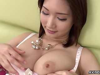 Super X Japanese minx with big tits toying her cunt in a hot solo chapter